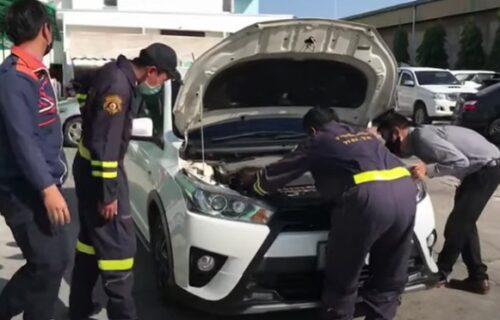 Čuo da nešto nije u redu sa motorom, a onda je ispod haube pronašao - ZMIJU (VIDEO)