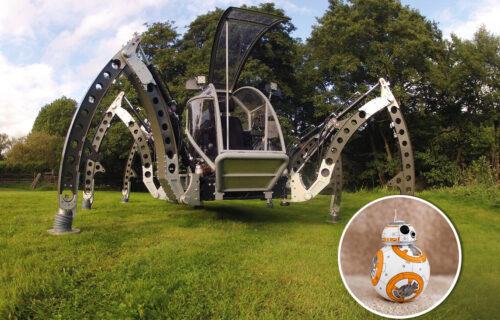 """Mehanička """"zver"""" MANTIS i simpatični BB-8 imaju istog oca (VIDEO)"""