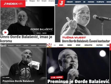 Ceo BALKAN tuguje zbog odlaska LEGENDE! Evo šta pišu mediji iz regiona o smrti Đorđa Balaševića