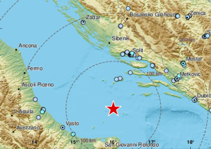 Region OPET PODRHTAVA: Više od 20 zemljotresa zabeleženo u Jadranskom moru posle prvog udara