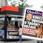 Sutra u novinama Objektiv: Detaljna šema Kokezine pljačke, veza Ajfonke i Belivuka… (NASLOVNA STRANA)