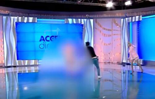 Gola žena utrčala u studio i napala Mirelu: Voditeljka vrištala iz sveg glasa (VIDEO)