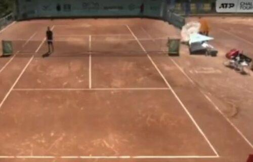 Velika drama na meču srpskog tenisera: Umalo nastradao dečak! (VIDEO)
