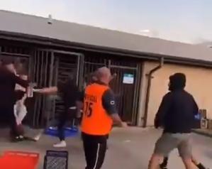 Huliganski rat Hrvata i Makedonaca: Zastrašujuće scene ispred stadiona (VIDEO)