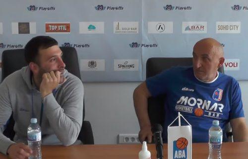 Umalo ga Pavićević nije ubio: Neverovatan gaf igrača Mornara na konferenciji, ovo mu nije trebalo (VIDEO)