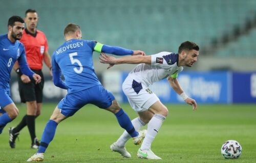 Azeri pobesneli posle meča sa Srbijom: Poslali žalbu u FIFA zbog sporne zastave na tribinama (FOTO)
