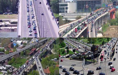 Velike GUŽVE u Beogradu: Sve stoji, a evo koje tačke treba ZAOBILAZITI (FOTO)