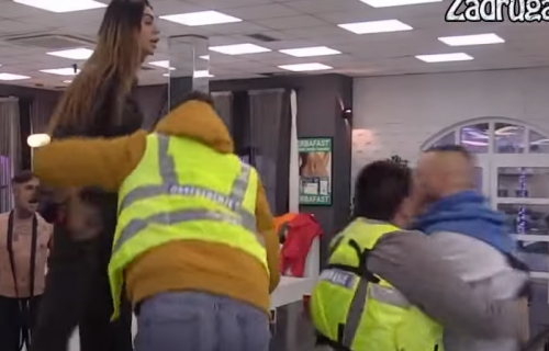 HAOS Mine, Frana i Filipa u cik zore: Pljuvali se, gurali i vređali, obezbeđenje ih razdvajalo (VIDEO)