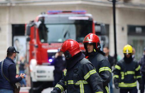 DRAMA na Voždovcu: GORI automobil, vatra preti da se proširi na drveće i rastinje, vatrogasci na terenu