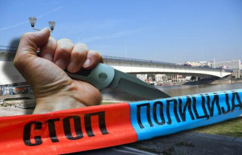 Drama u centru Beograda: Muškarac ISEKAO VENE na Brankovom mostu, pa krvav pretio skokom!