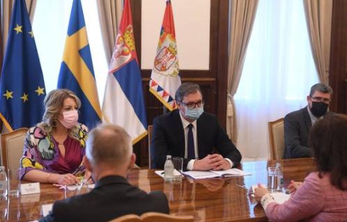 Predsednik Vučić sa An Linde: Za Srbiju je od ključnog interesa očuvanje stabilnosti u regionu (FOTO)