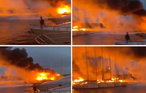 Stravičan požar u Hrvatskoj: U Splitu STRADALA i luksuzna jahta SRPSKOG biznismena (FOTO+VIDEO)