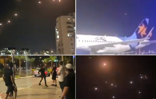 Snimci NAPADA na Tel Aviv: Gorelo na ulicama, SIRENE se orile gradom, potpuni haos (VIDEO)