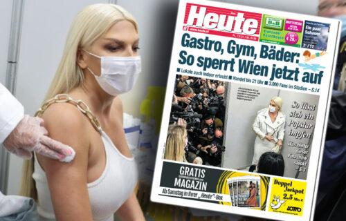 Austrijski mediji bruje o Karleuši: Nakon vakcinacije srpska pevačica postala GLAVNA TEMA (FOTO)