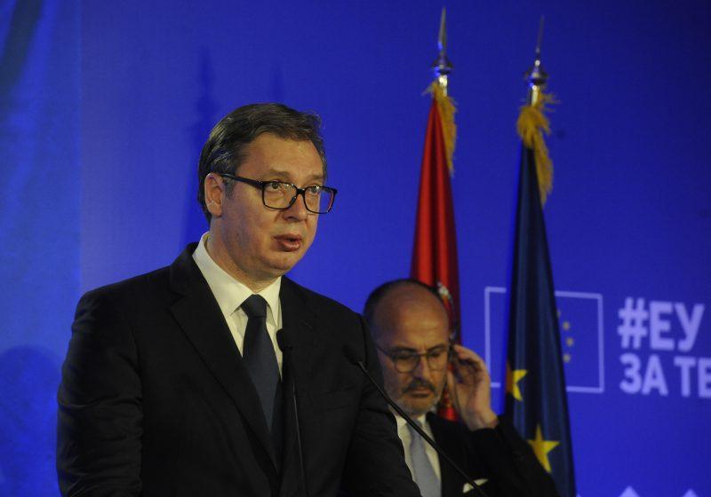 """Predsednik Vučić na obeležavanju Dana Evrope: """"Cilj Srbije je punopravno članstvo u EU"""""""
