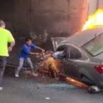 Junački potez nekadašnjeg NFL šampiona: Spasao čoveka iz zapaljenog automobila, bilo je jezivo (FOTO)