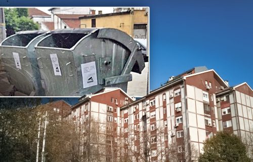 """""""Još samo da nas biju"""": Šta se KRIJE iza poruke na kontejneru na Zvezdari? Stanari otkrili ISTINU (FOTO)"""