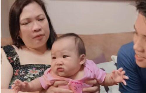 """""""Bežite od mene!"""": Upoznajte bebu koja prezire poljupce (VIDEO)"""