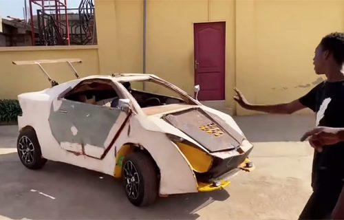 Ilon Mask iz Gane: Mladić napravio automobil od delova s otpada, a ima velike planove (VIDEO)