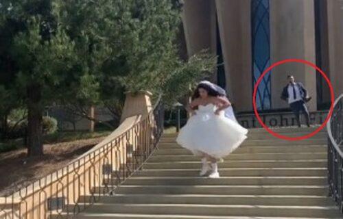 Mlada pobegla sa svadbe, a mladoženja trčao za njom i u besu uradio nešto što će se prepričavati (VIDEO)