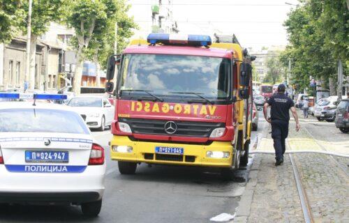 Buknuo požar u MESARI u Svrljigu: Plamen zahvatio više lokala, ima povređenih