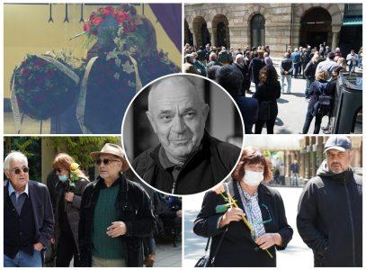Feđa Stojanović ispraćen na večni POČINAK: Kolege pristigle u velikom broju i tešili njegovu ĆERKU Zoju