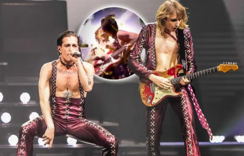 Ovaj MOMENAT je svima promakao: Italijan ljubi gitaristu u USTA na kraju pobedničkog nastupa (FOTO)
