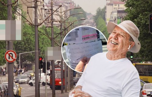 Parola - snađi se! PENZIONER iz Beograda uzeo papir i olovku pa nasred Bulevara ostavio hit PORUKU (FOTO)
