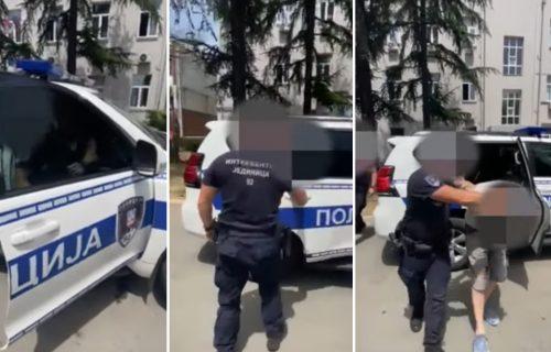 MUNJEVITA akcija policije: Pogledajte kako je uhapšen nasilnik koji je TUKAO devojku na Adi (VIDEO)