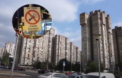 Bizarna poruka u Novom Beogradu: Na banderi okačen PRETEĆI sadržaj, VOZAČI - na vas se odnosi (FOTO)
