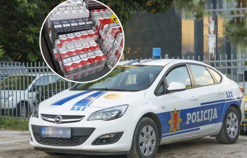 Zaplenjene cigarete vredne 40.000 EVRA: U Podgorici podneta krivična prijava protiv muškarca (35)