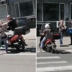 PESNIČENJE usred Beograda: Prešao van pešačkog pa odlučio da se IŽIVLJAVA, reagovala policija (VIDEO)