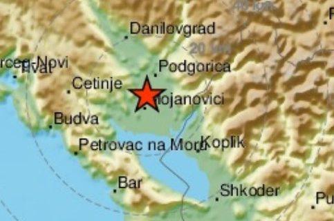 Novi POTRES u Crnoj Gori: Zemljotres u blizini Podgorice (FOTO)