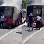 Drama u centru Beograda: Goreo autobus, ulje CURILO po ulici, u svakom momentu moglo da se ZAPALI (VIDEO)