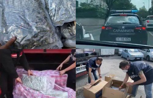 UHAPŠENI Srbi u Italiji! U tovaru keksa švercovali DROGU, nisu prevarili vojnu policiju (VIDEO)