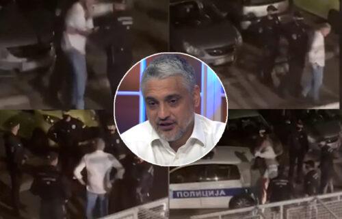Isplivao NOVI SNIMAK: Čeda šutira auto dok ga policajci drže, a onda se pojavila njegova žena (VIDEO)