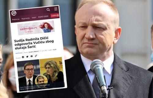 Đilasov portal LAŽIMA pokušao da uvuče u problem sudiju koja je bila predsednik veća u slučaju Šarić