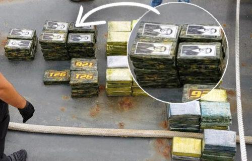 KAVČANIMA pripadalo 800 kg kokaina sa likom Gavrila Principa: Novi detalji ZAPLENE na Atlantiku (FOTO)