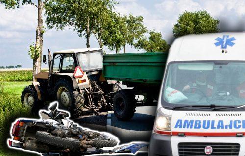 Stravična nesreća u Zaovićima: Maloletnici pali sa motora, pa ih PREGAZIO TRAKTOR