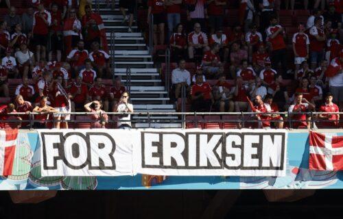 Veličanstvene scene u čast Kristijana Eriksena na Evropskom prvenstvu (FOTO)