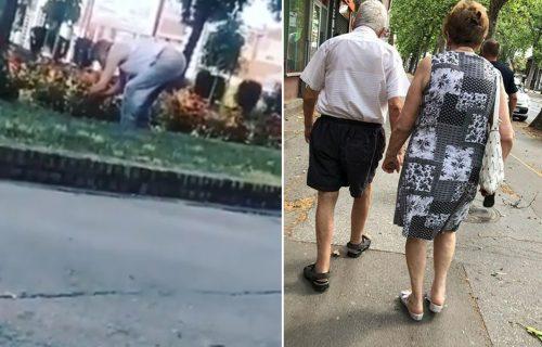DIRLJIVE fotografije iz Niša i Novog Sada: DEKA pokazao mladima da ljubav ne zna za godine (FOTO)