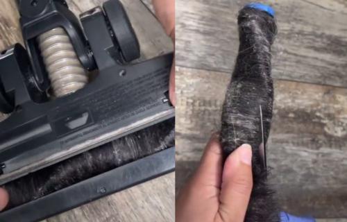 Za samo 10 MINUTA: Očistite četku usisivača uz pomoć jednog PREDMETA (VIDEO)