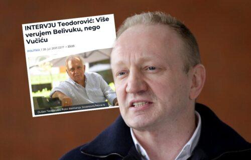 Đilasov ideolog Dušan Teodorović jasan: Pre bismo PODRŽALI Velju Nevolju i Marka Mesara nego Vučića!