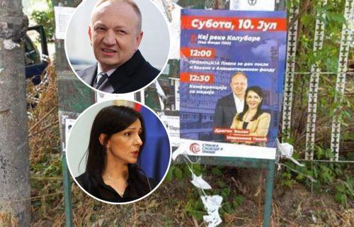 Sramota! Đilasu i Mariniki ništa NIJE SVETO: U Valjevu prelepili svoje plakate preko UMRLICA (FOTO)