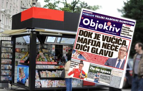 Danas u novinama Objektiv: Dok je Vučića mafija neće dići glavu, zlatna Milica Mandić (NASLOVNA STRANA)