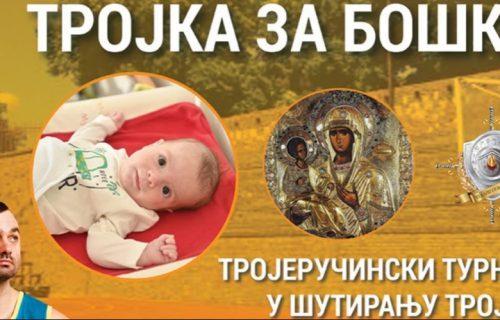 Trojka za Boška i njegovu šansu da ŽIVI: Turnir na Malom Kalemegdanu – prikupljanje novca za LEČENJE bebe