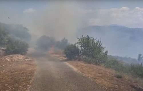 Veliki POŽAR u Kučima: Vatra se vidi iz Podgorice (FOTO+VIDEO)