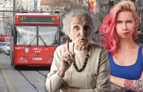 Svađa devojke i babe u autobusu je pravi HIT: Videla čudnu TETOVAŽU na njenom vratu, pa zasmejala putnike