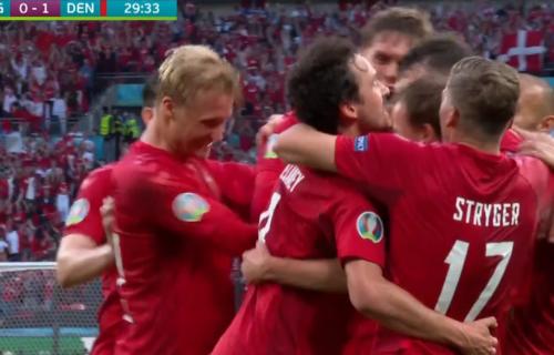 Imamo najlepši gol Evropskog prvenstva: Damsgor probušio Pikforda iz slobodnjaka i utišao Engleze (VIDEO)