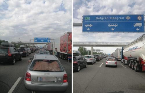 Gužve na graničnim prelazima: Na Horgošu KILOMETARSKA kolona, čeka se DVA sata (FOTO)
